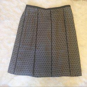 NWT Ann Taylor 100% Silk Black & White Skirt